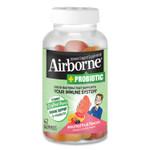 Airborne Immune Support Plus Probiotic Gummies, Assorted Fruit Flavors, 42/Bottle Product Image