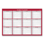 Blue Sky Laminated Wall Calendar, 48 x 32, Red/White, 2022 Product Image