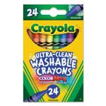 Crayola Ultra-Clean Washable Crayons, Random Assortment, 24/Box Product Image