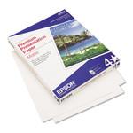 Epson Premium Matte Presentation Paper, 9 mil, 8.5 x 11, Matte Bright White, 100/Pack Product Image
