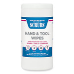 SCRUBS Hand Cleaner Towels, 7 x 8, White, 125/Canister, 6 Canisters/Carton Product Image