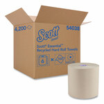 """Scott Essential 100% Recycled Fiber Hard Roll Towel, 1.75"""" Core, Brown, 8"""" x 700 ft, 6/Carton Product Image"""