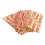 CONTROLTEK Flat Tubular Coin Wrap, Pennies, $0.50, Red, 1,000/Box Product Image