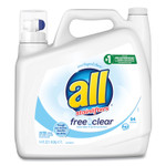All Ultra Free Clear Liquid Detergent, Unscented, 141 oz Bottle, 4/Carton Product Image