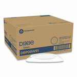 "Dixie White Paper Plates, 8.5"" Diameter, Individually Wrapped, White, 500/Carton Product Image"