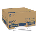 """Dixie White Paper Plates, 8.5"""" Diameter, Wrapped in Packs 5, White, 5/Pack, 100 Packs/Carton Product Image"""