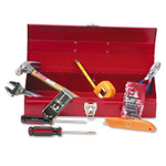 Great Neck 16-Piece Light-Duty Office Tool Kit, Metal Box, Red Product Image