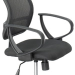Safco Optional Loop Arm Kit for Mesh Extended Height Chair, Black, 1 Pair Product Image