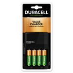 Duracell ION SPEED 1000 Advanced Charger, Includes 4 AA NiMH Batteries Product Image