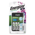 Energizer Recharge 1 Hour Charger for AA or AAA NiMH Batteries, Includes 4 AA Batteries/Charger, 3 Chargers/Carton Product Image
