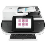 HP Digital Sender Flow 8500 fn2 Document Capture Workstation, 600 dpi Optical Resolution, 150-Sheet Duplex Auto Document Feeder Product Image