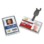 AbilityOne 8455016452732 SKILCRAFT Dual-Sided Name Badge Holder, Clear, 250/Box Product Image