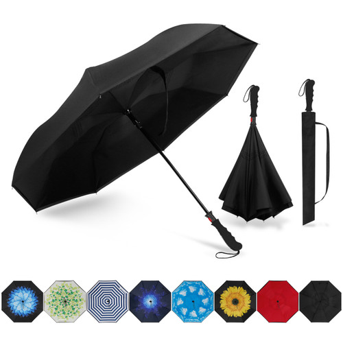 Double Layer Inverted Inverted Umbrella Is Light And Sturdy Design Blue Marble Seamless Pattern Vector Reverse Umbrella And Windproof Umbrella Edge N