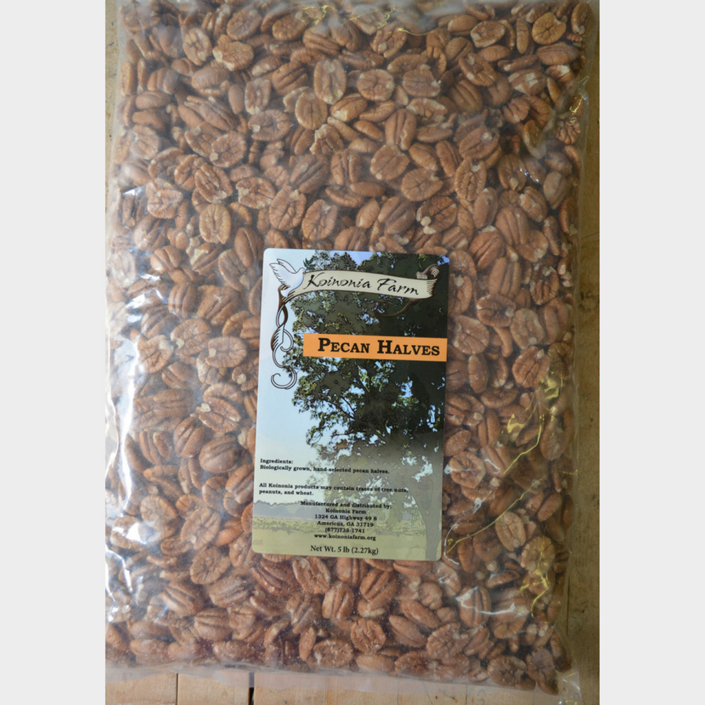 Koinonia Farm Shelled Pecan Halves 5 lb bag