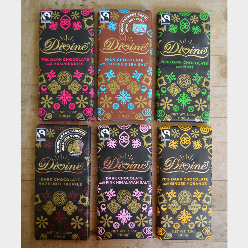 Divine Fair Trade Chocolate Bar Options