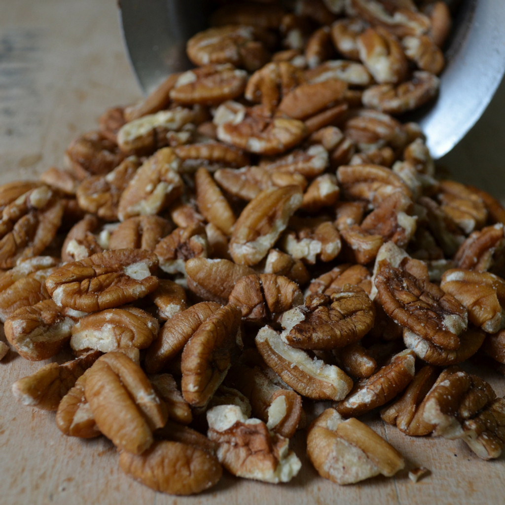 Koinonia Farm Pecan Pieces Close Up