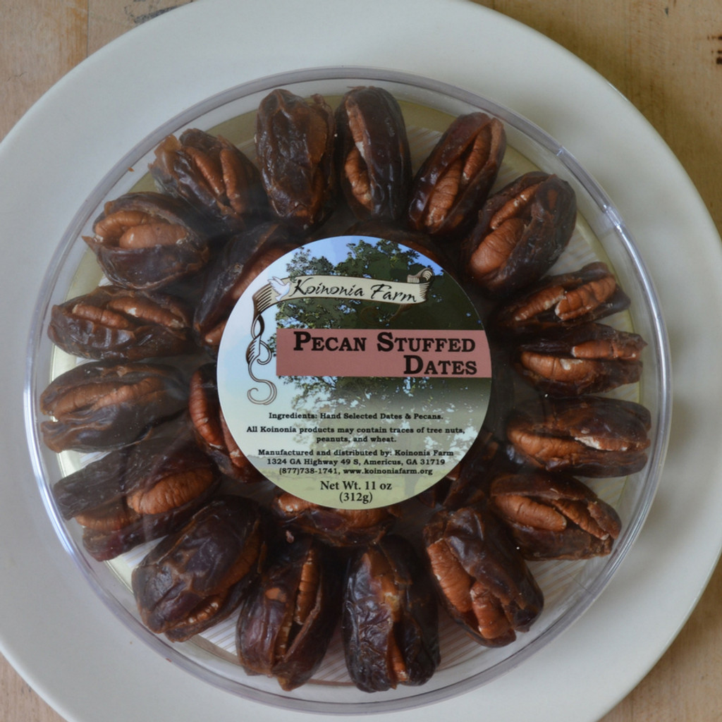 Koinonia Farm Pecan Stuffed Dates 11 oz Tray