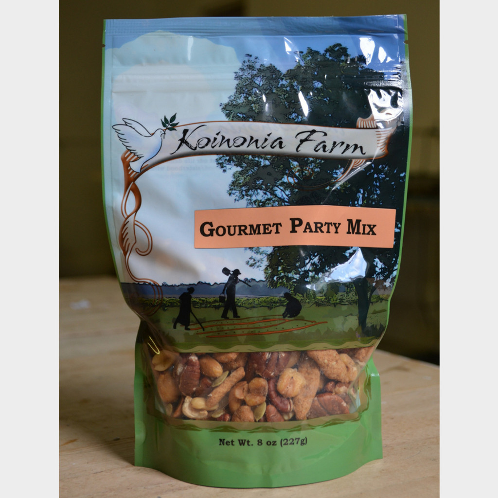 Koinonia Farm Handmade Gourmet Party Mix 8 oz Bag Front