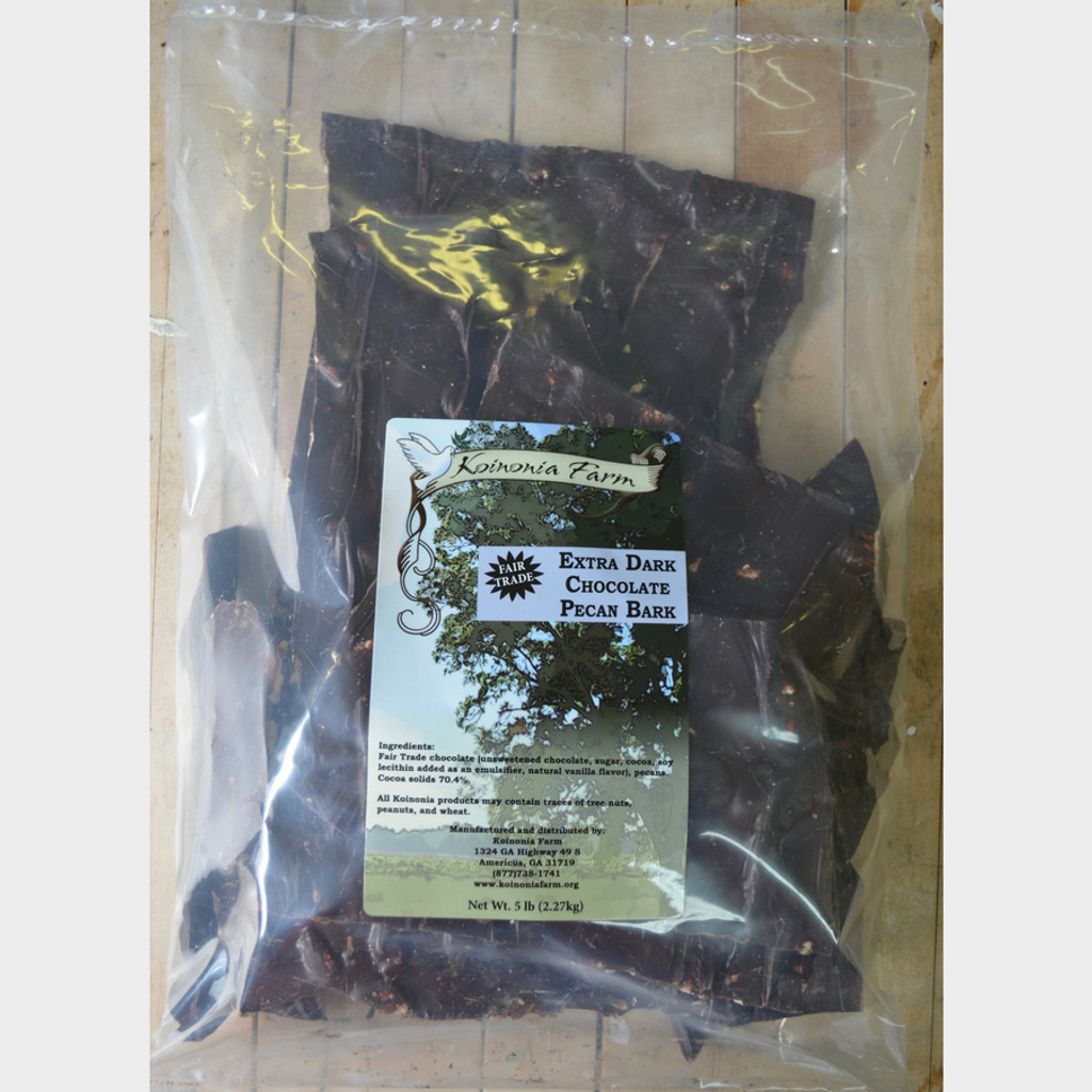 Extra Dark Chocolate Pecan Bark 5 lb bag
