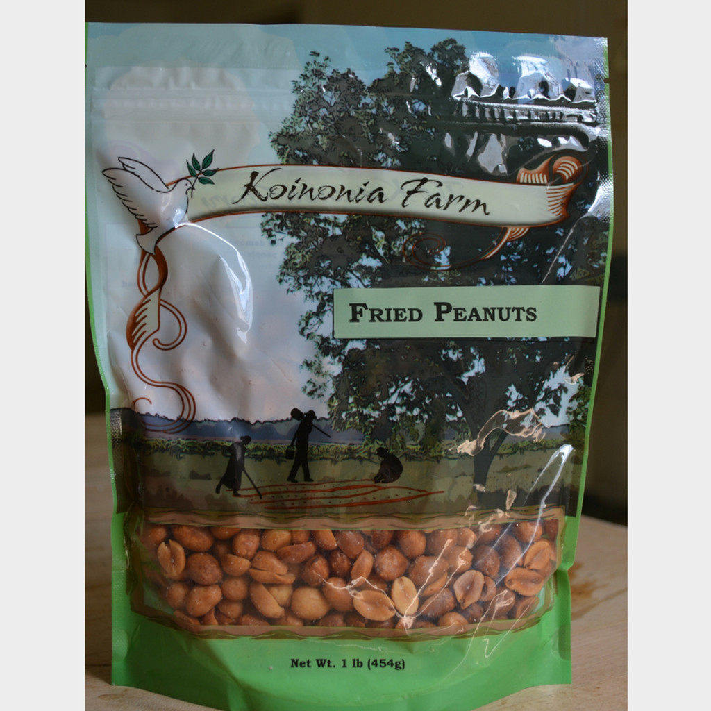 Koinonia Farm Fried Peanuts 1 lb Bag Front