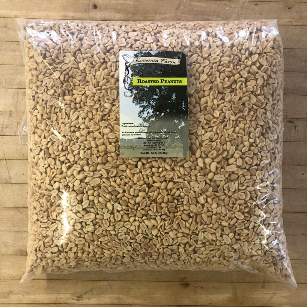 Koinonia Farm Organic Roasted Peanuts 30 lb Bag