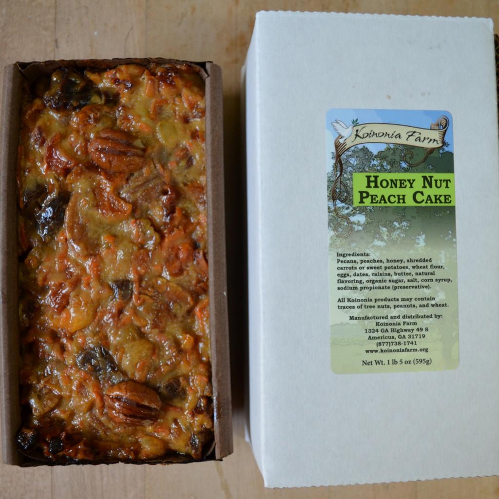 Koinonia Farm Homemade Honey-Nut Peach Cake full loaf