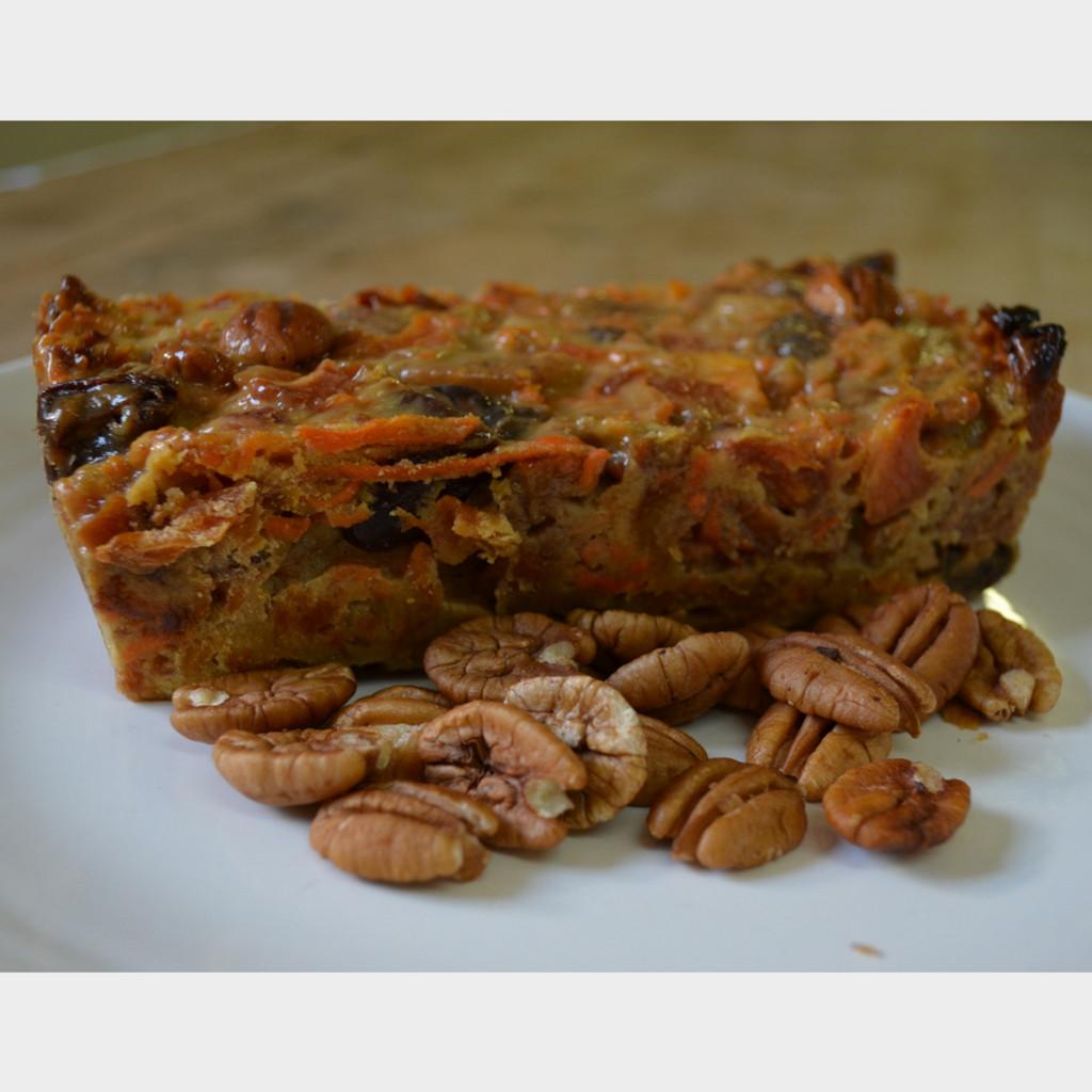 Koinonia Farm Homemade Honey-Nut Peach Cake