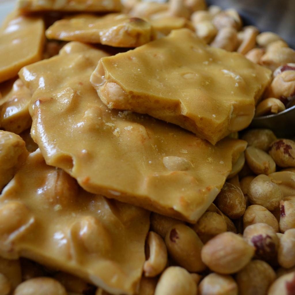 Koinonia Farm Handmade Peanut Brittle Close-Up