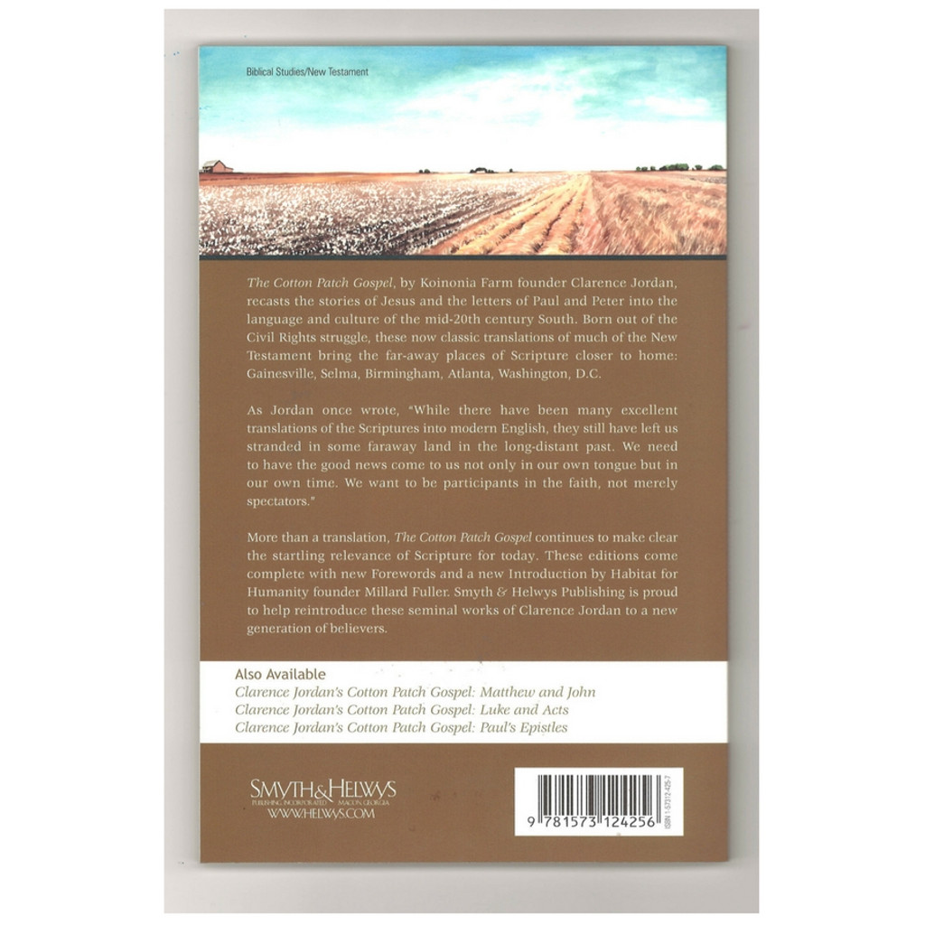 Cotton Patch Gospel Hebrews and General Epistles by Clarence Jordan Paperback Book Back Cover
