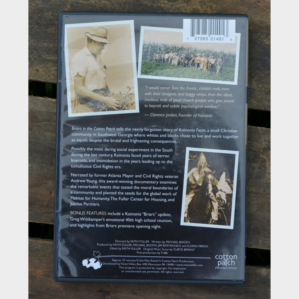 Briars in the Cotton Patch DVD Back Cover