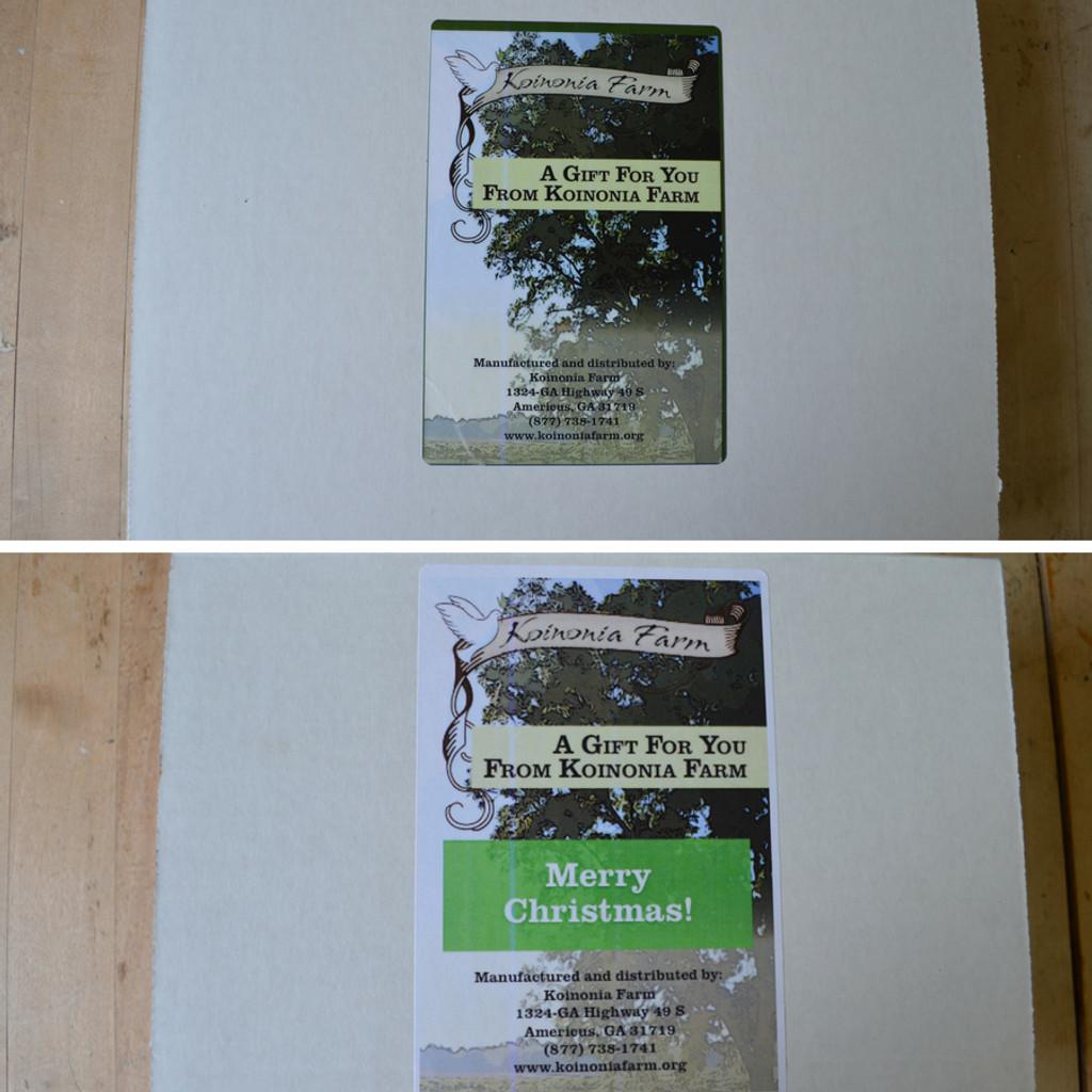Koinonia Farm Gift Box Messages