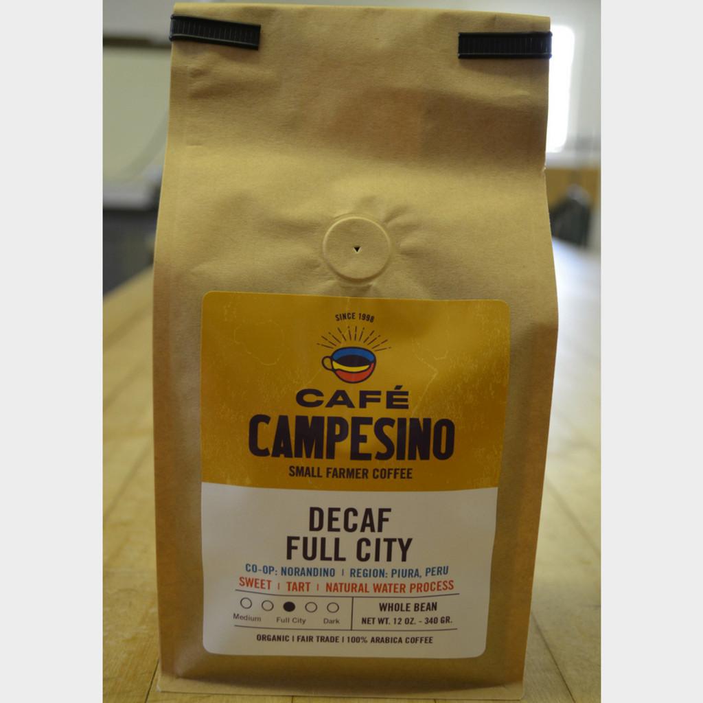 Decaf House Blend Full City Roast Fair Trade Coffee 1 lb bag whole bean