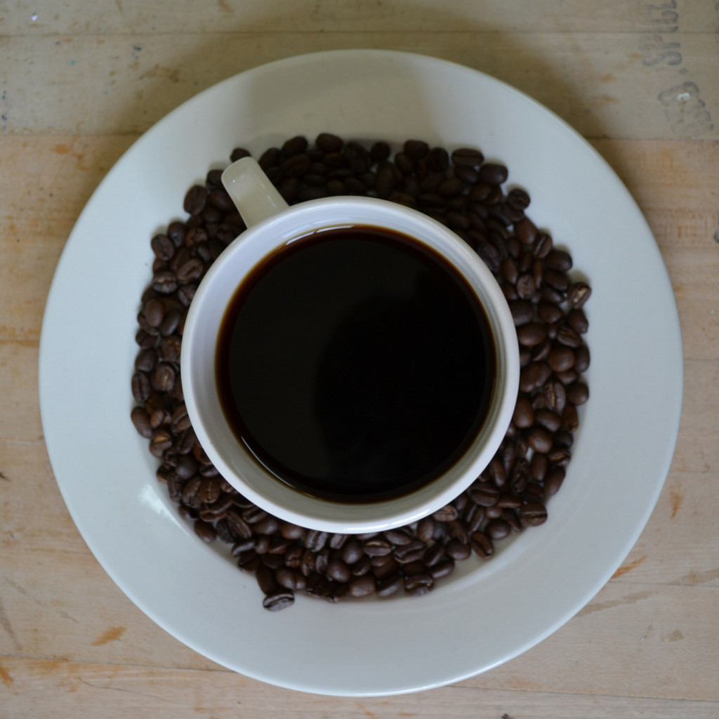 Fair Trade Coffee Cup and Beans