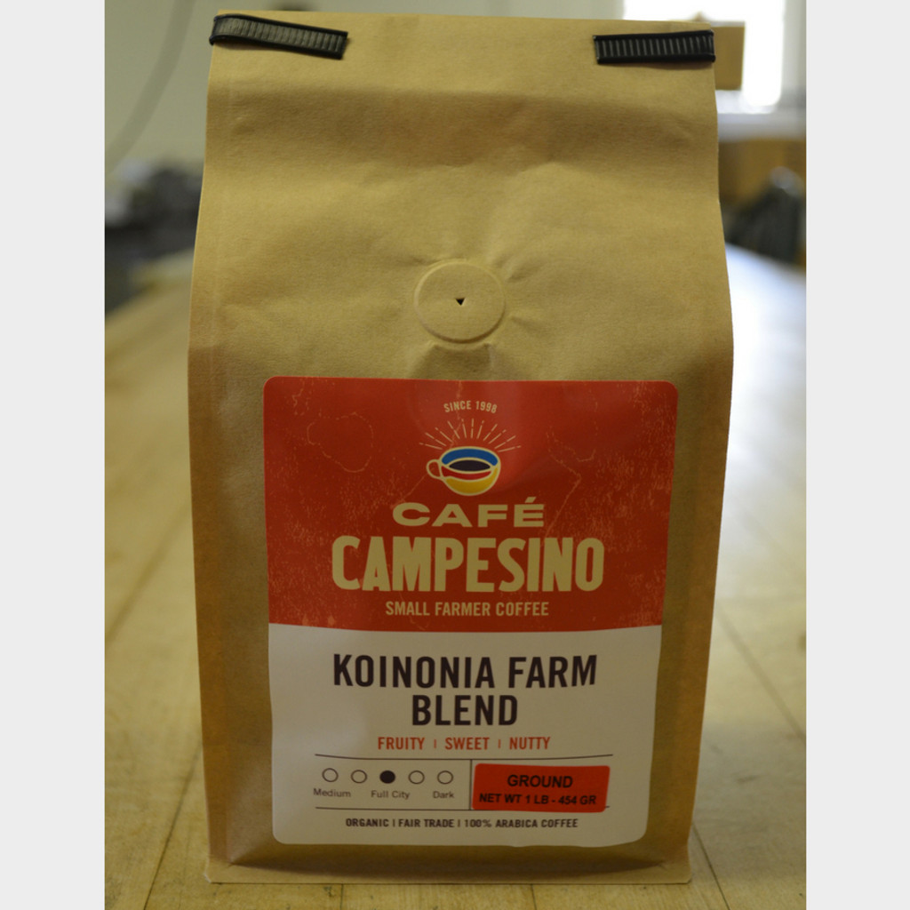 Koinonia Farm Blend Fair Trade Coffee by Cafe Campesino 1 lb bag ground