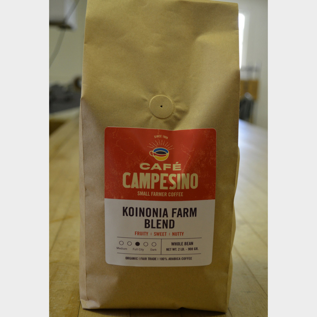 Koinonia Farm Blend Fair Trade Coffee by Cafe Campesino 2 lb bag whole beans
