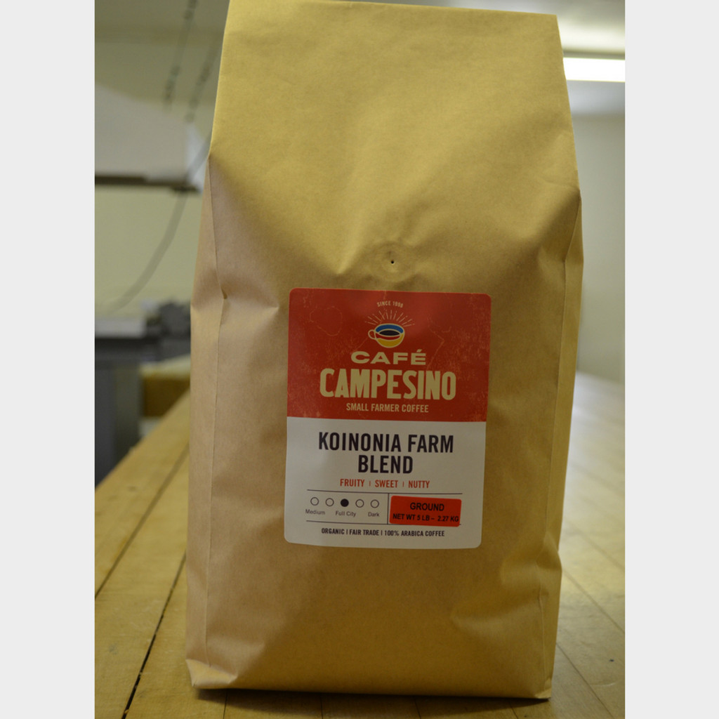 Koinonia Farm Blend Fair Trade Coffee by Cafe Campesino 5 lb bag ground