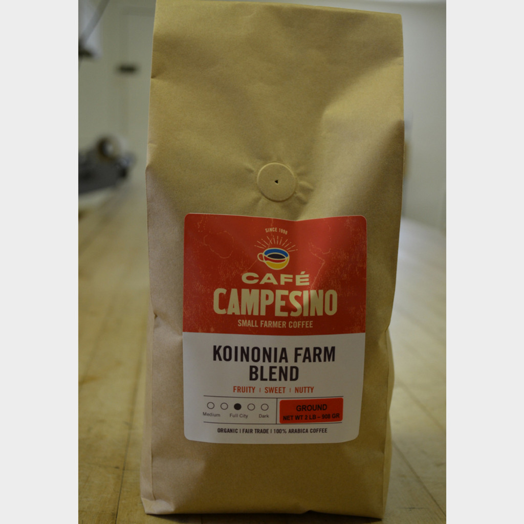 Koinonia Farm Blend Fair Trade Coffee by Cafe Campesino 2 lb bag ground