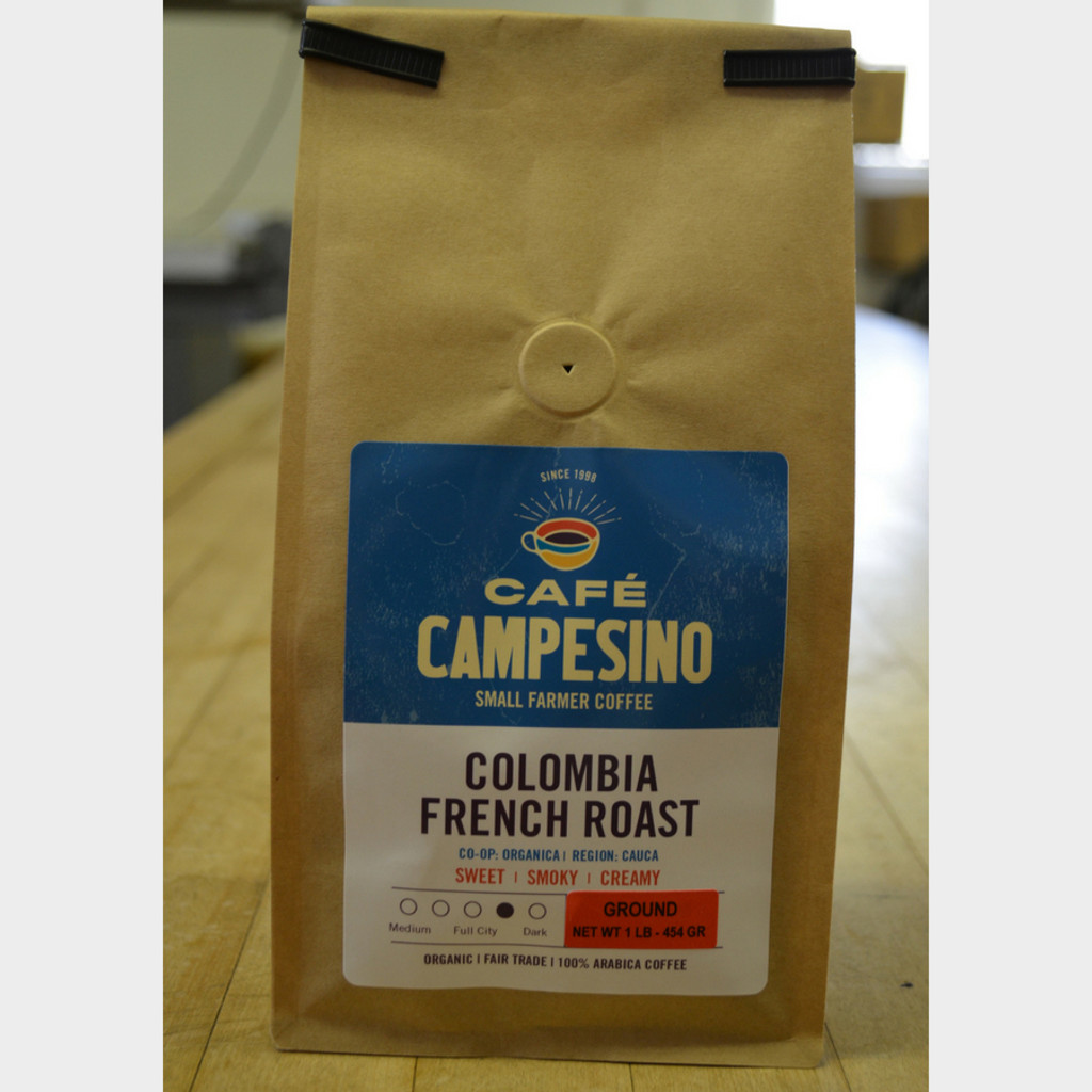 Fair Trade Coffee Colombia French Roast 1 lb bag ground