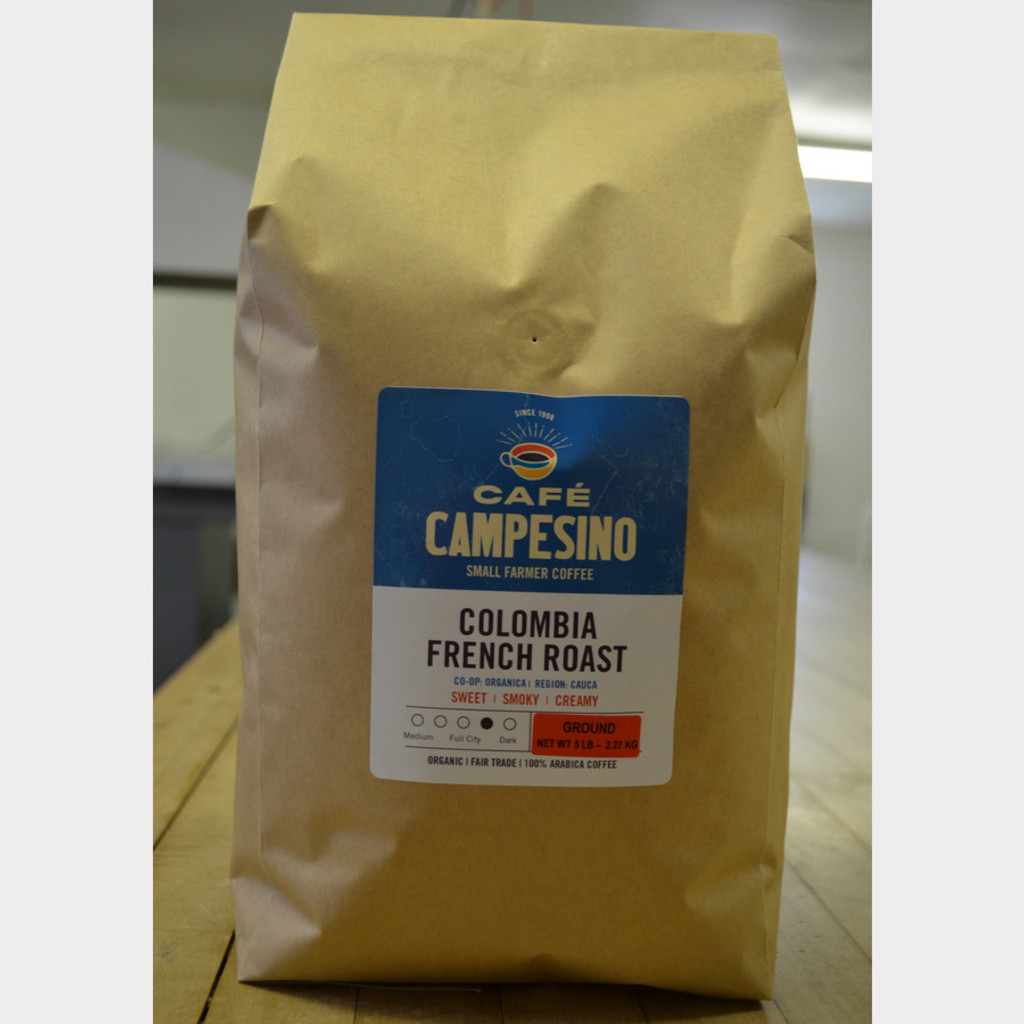 Fair Trade Coffee Colombia French Roast 5 lb bag ground