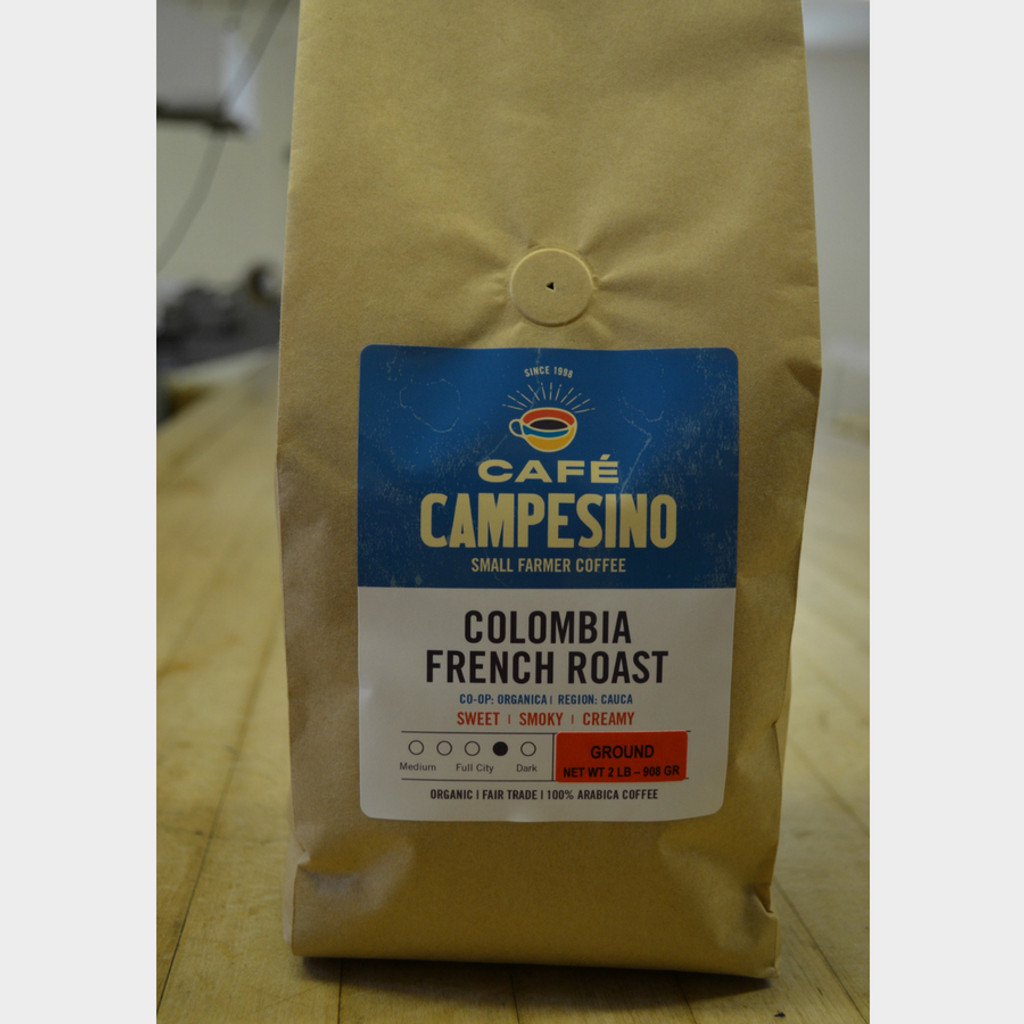 Fair Trade Coffee Colombia French Roast 2 lb bag ground