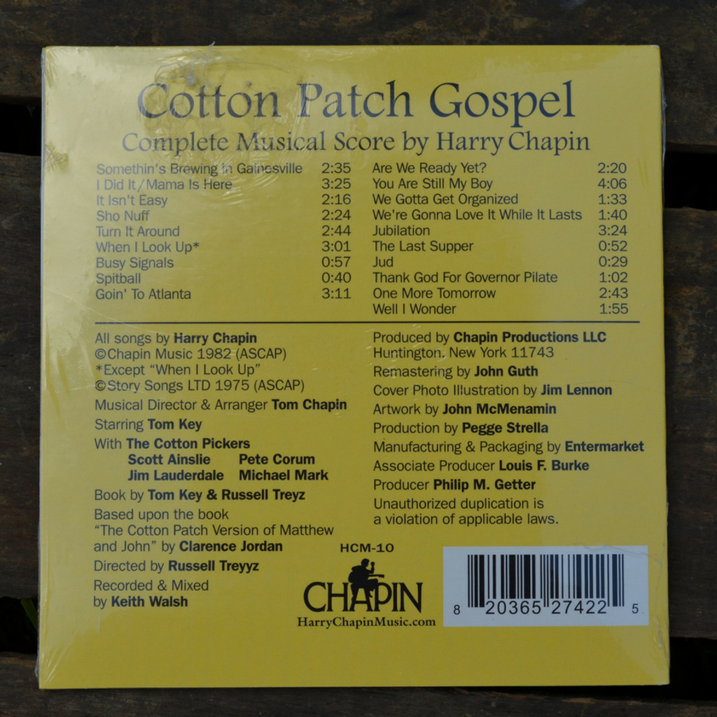 The Cotton Patch Gospel Musical CD Back