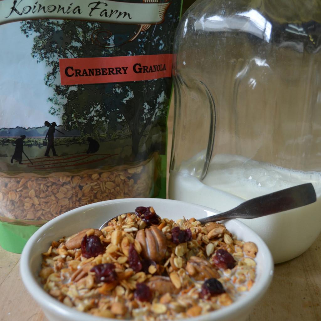 Cranberry Granola Koinonia Farm handmade
