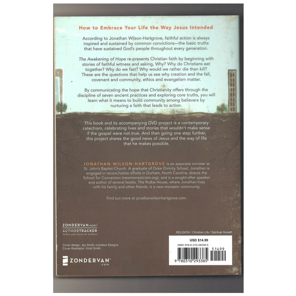 The Awakening of Hope by Jonathan Wilson-Hartgrove Paperback Back Cover