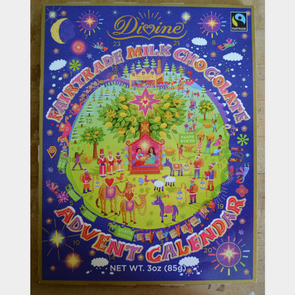 Divine Fair Trade Chocolate Advent Calendar Front