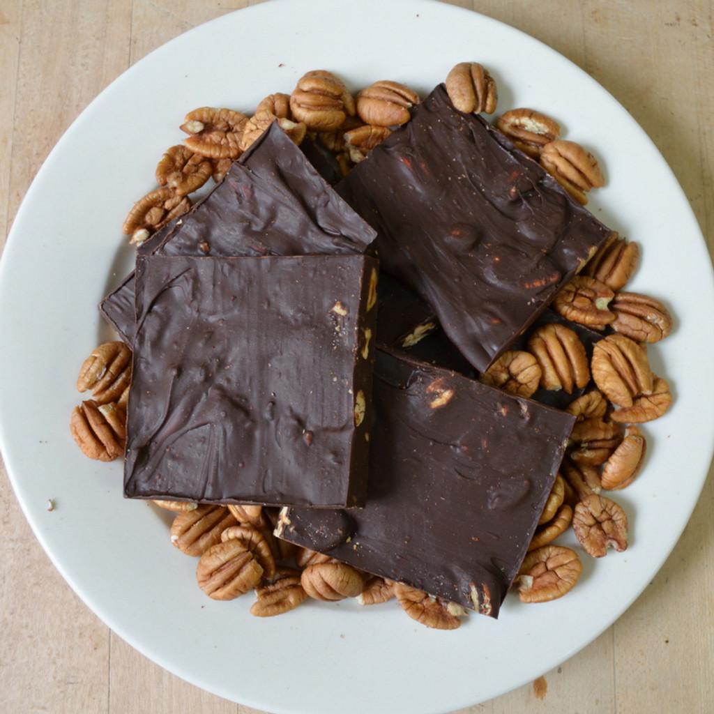 Dark Chocolate Pecan Bark Above