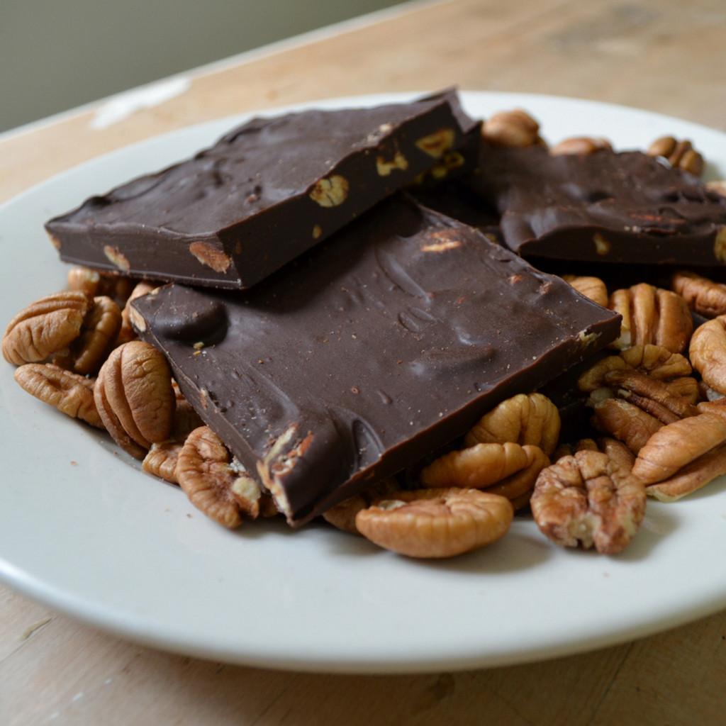 Dark Chocolate Pecan Bark Mid