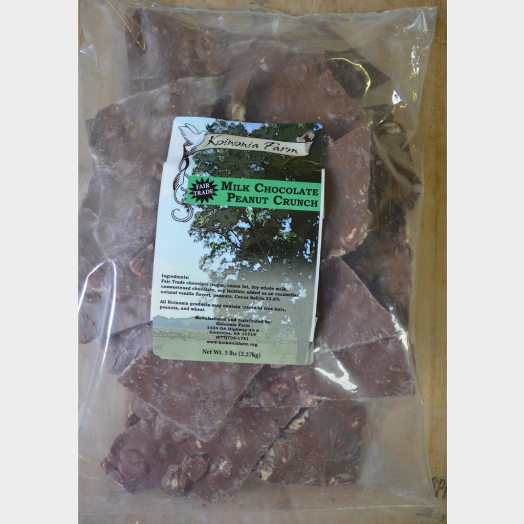 Fair Trade Milk Chocolate Peanut Crunch 5 lb Bag