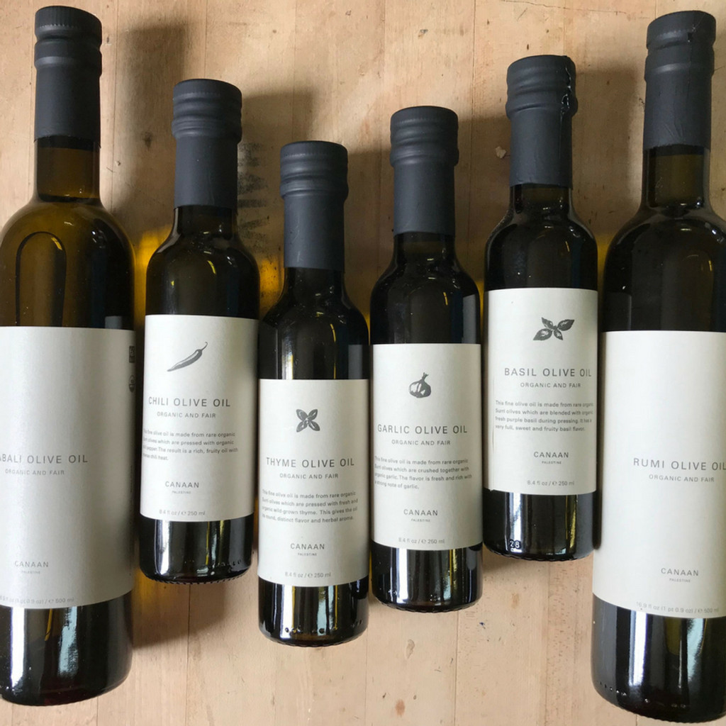 Canaan Palestine Fair Trade Olive Oil Options