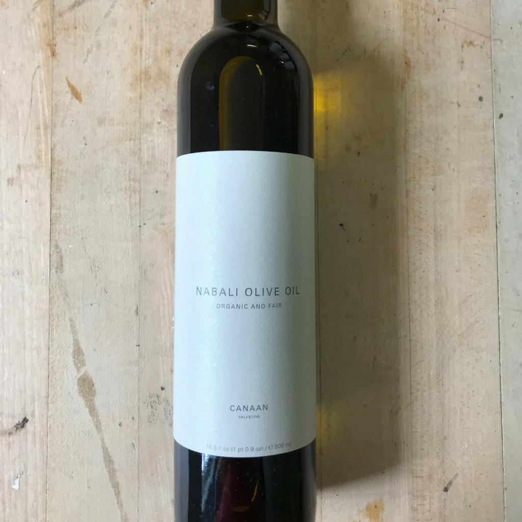 Nabali Tree Olive Oil 16.9 fl oz Glass Bottle Front Label