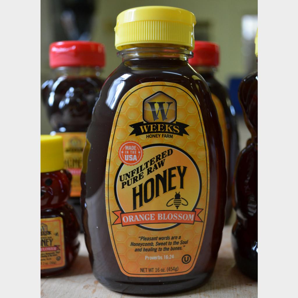 Raw Orange Blossom Honey 16 oz Bottle